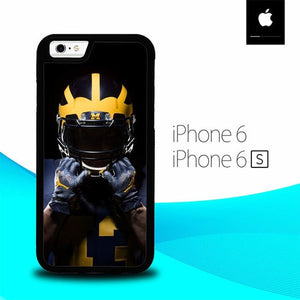 Michigan Football Used Helmet O7048 hoesjes iPhone 6, iPhone 6S