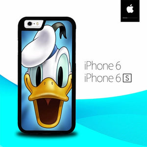 Cartoon Donald Duck Face O7458 hoesjes iPhone 6, iPhone 6S