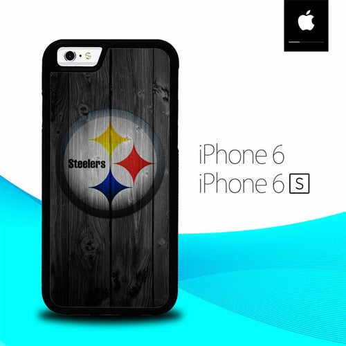 Pittsburgh Steelers Wood O7469 hoesjes iPhone 6, iPhone 6S