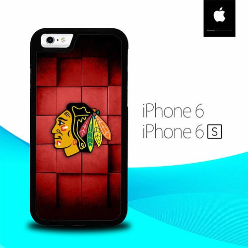 Red Squares Blackhawks O7515 hoesjes iPhone 6, iPhone 6S