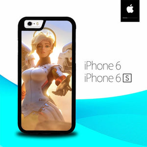 Mercy Overwatch O7696 hoesjes iPhone 6, iPhone 6S