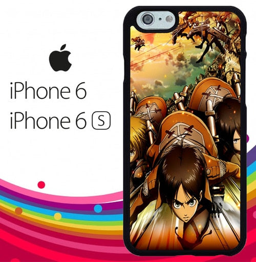 Attack on Titan shingeki no kyojin Z1502 hoesjes iPhone 6, iPhone 6S