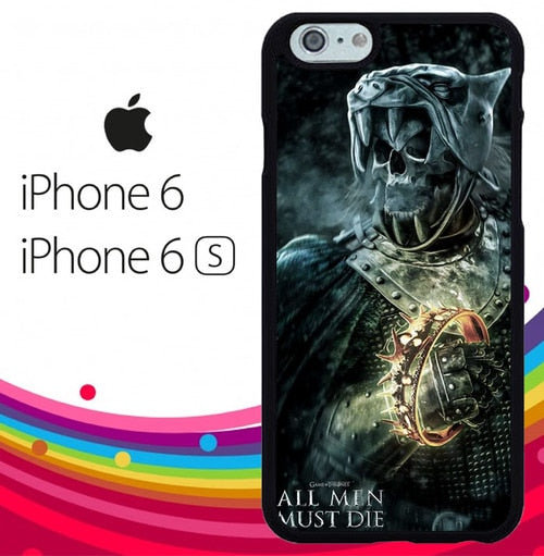 All Men Must Die Skull Z1505 hoesjes iPhone 6, iPhone 6S