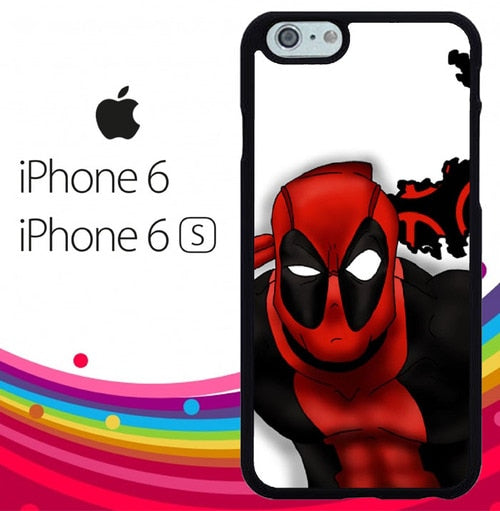 Deadpool cool Z1685 hoesjes iPhone 6, iPhone 6S