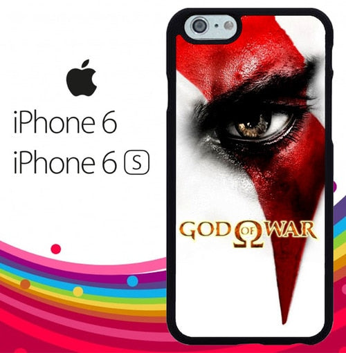 God of War Kratos Eye Z2947 hoesjes iPhone 6, iPhone 6S