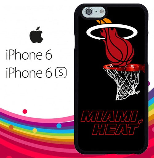 Miami Heat logo Z3041 hoesjes iPhone 6, iPhone 6S