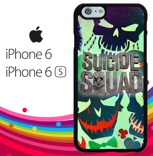 Suicide Squad Movie Logo Z3609 hoesjes iPhone 6, iPhone 6S