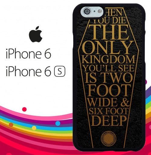 lyrics Bring Me The Horizon logo Z4410 hoesjes iPhone 6, iPhone 6S