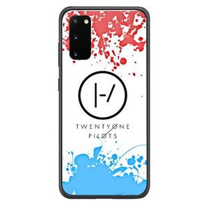 21 Twenty One Pilots Red Blue Z4417 Samsung Galaxy S20, S20 hoesjes 5G