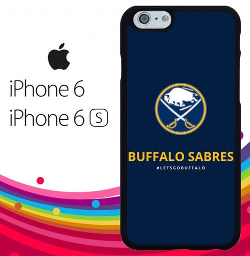 BUFFALO SABRES LOGO Z5184 hoesjes iPhone 6, iPhone 6S