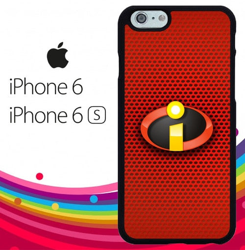 The Incredibles 2 Logo Red Carbon Z5260 hoesjes iPhone 6, iPhone 6S