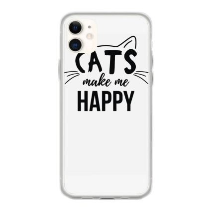cats make me happy iphone 11 hoesjes