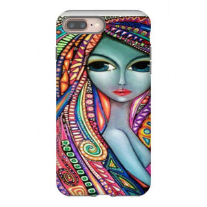 colored hair girl iphone 8 plus hoesjes