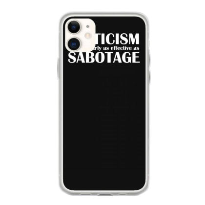 criticism vs sabotage iphone 11 hoesjes