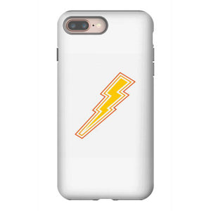 electricity power with lightning bolt sign iphone 8 plus hoesjes