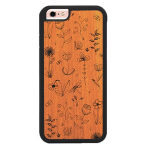 Botanical Plants Wood X00168 hoesjes iPhone 6, iPhone 6S
