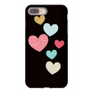 glitter hearts iphone 8 plus hoesjes