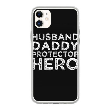 husband daddy protector hero father s day dad gift iphone 11 hoesjes