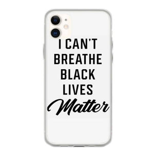 i can t breathe black lives matter protest gifts iphone 11 hoesjes