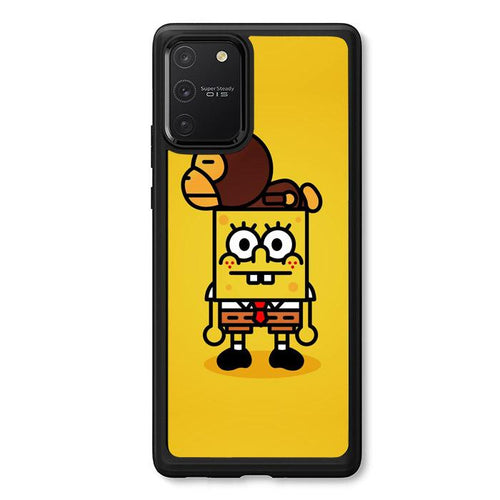 coque custodia cover fundas hoesjes j3 J5 J6 s20 s10 s9 s8 s7 s6 s5 plus edge B36076 Spongebob And Baby Milo H0059 Samsung Galaxy S10 Lite 2020 Case
