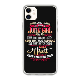june girl funny birthday gift iphone 11 hoesjes