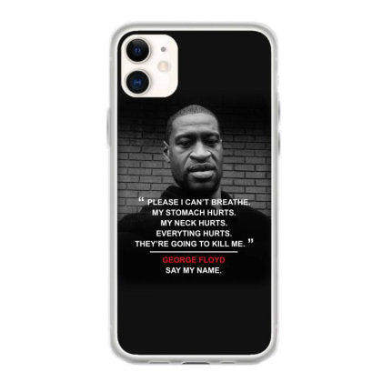 justice for george floyd stop racism killing black people iphone 11 hoesjes