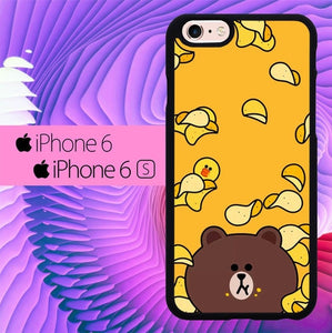 Brown Eat Line L0073 hoesjes iPhone 6, iPhone 6S