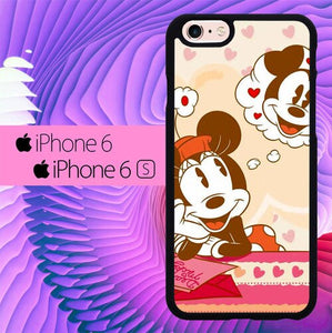 Mickey Minnie Mouse Love L0202 hoesjes iPhone 6, iPhone 6S