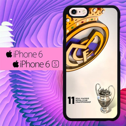 Real Madrid Royal Club Champions L0242 hoesjes iPhone 6, iPhone 6S