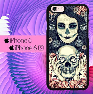 Smooking Skull L0260 hoesjes iPhone 6, iPhone 6S
