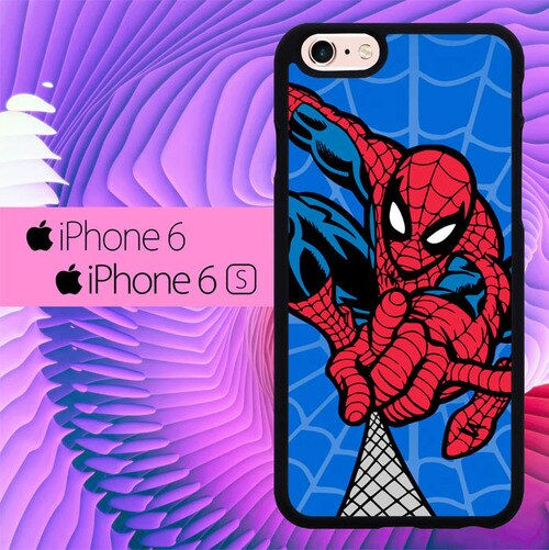 Spiderman Art Blue L0261 hoesjes iPhone 6, iPhone 6S
