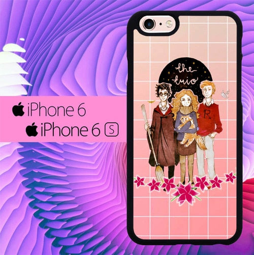 the trio harry potter L0298a hoesjes iPhone 6, iPhone 6S