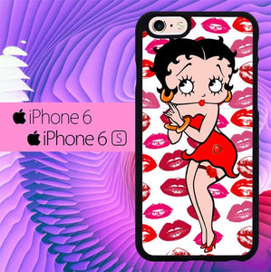 betty boop L0325a hoesjes iPhone 6, iPhone 6S