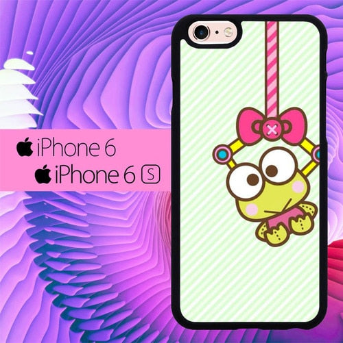 Keroppi Frog Wallpaper L0381 hoesjes iPhone 6, iPhone 6S