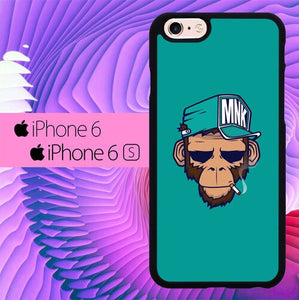 Monkey Smoke L0405 hoesjes iPhone 6, iPhone 6S