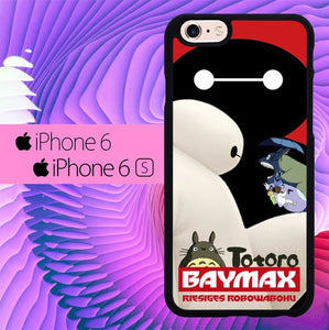 totoro and baymax L0405a hoesjes iPhone 6, iPhone 6S