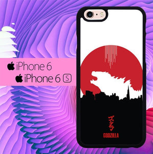 Godzilla Japan L0508 hoesjes iPhone 6, iPhone 6S