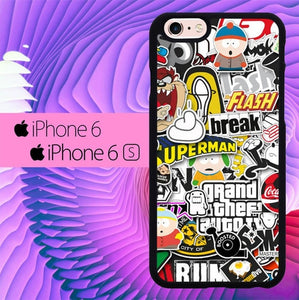 Sticker Swag L0570 hoesjes iPhone 6, iPhone 6S