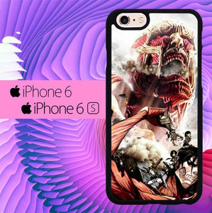 attack on titan L0599a hoesjes iPhone 6, iPhone 6S