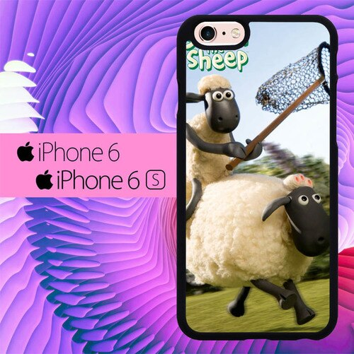 Shaun The Sheep Playing L0646 hoesjes iPhone 6, iPhone 6S