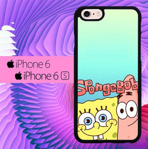 Spongebob And Patrick Face Smile L0647 hoesjes iPhone 6, iPhone 6S