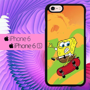 Spongebob Skate Wallpaper L0648 hoesjes iPhone 6, iPhone 6S