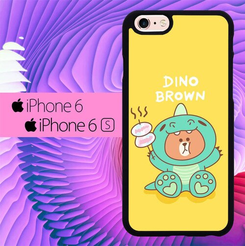 Dino Brown L0716 hoesjes iPhone 6, iPhone 6S