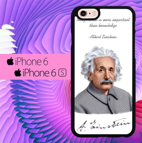 albert einstein quotes an signature L0934 hoesjes iPhone 6, iPhone 6S