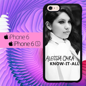 alessia cara bw know it all L0938 hoesjes iPhone 6, iPhone 6S