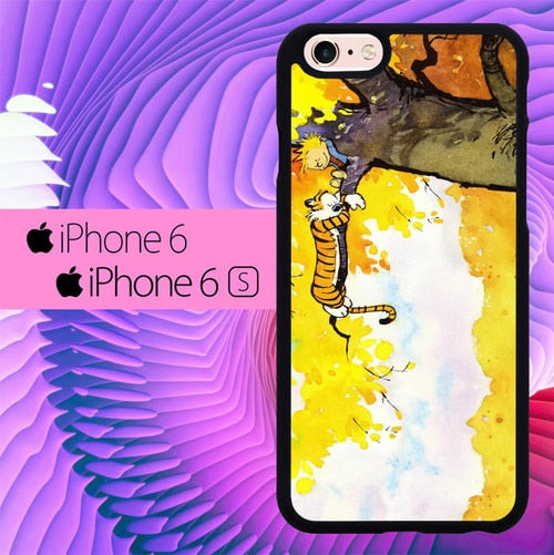 Calvin and Hobbes Play Comic Strip Sleep L1220 hoesjes iPhone 6, iPhone 6S