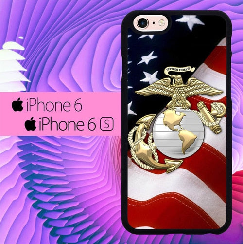 Marine Corps Anchor L1261 hoesjes iPhone 6, iPhone 6S