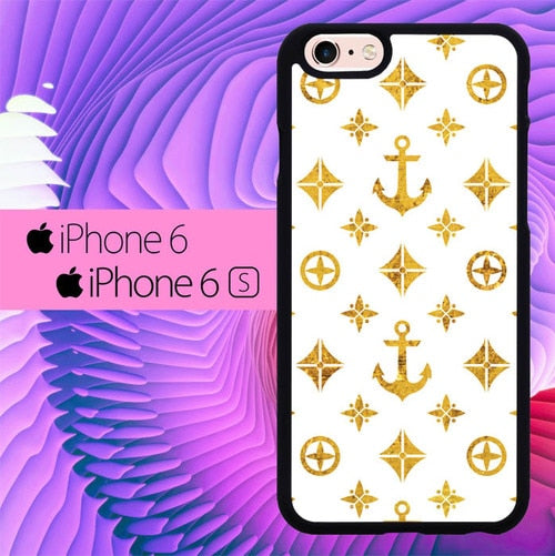 Marine Corps Boat Anchor Gold L1262 hoesjes iPhone 6, iPhone 6S