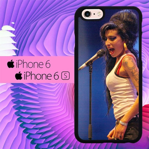 Amy Winehouse Perform L1353 hoesjes iPhone 6, iPhone 6S
