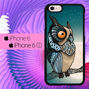 Owl and Moon L1468 hoesjes iPhone 6, iPhone 6S
